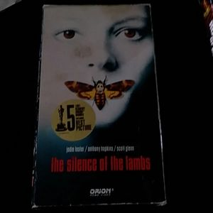 The silence of the lambs VCR tape movie.